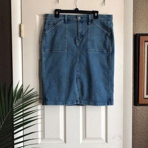J. Crew jean skirt Size:14